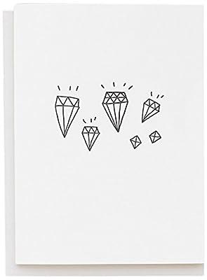 Tattly Temporary Tattoos Card, Diamonds, 0.6 Ounce