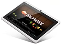 7&quot; inch Capacitive Touch Screen Allwinner A13 1.0GHz CPU (up to 1.5GHz maximumly)Processor Android 4.0.3 (Latest Ice Cream Sandwich OS) Tablet PC 4GB HDD 512MB WiFi MID Epad Flash Player 11.1 - Compatible with BBC iPlayer / Youtube / Facebook (White)