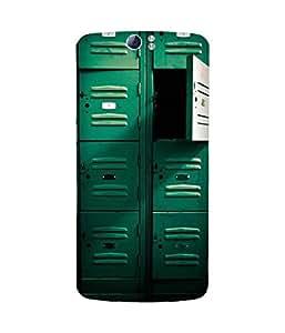 Green Locker Printed Back Cover Case For Oppo N1