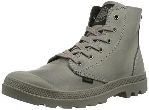 Palladium Men's Pampa High Leather Boot,Gray,12 M US