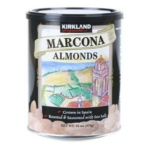 review Kirkland Signature Roasted Spanish Marcona Almonds with Sea Salt - NEW 17.63 OZ (500G)
