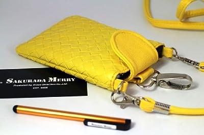 スタイラスタッチペン付き ケータイ スマホ用 スマートフォン ケース 携帯小物入れ 2way  メッシュポーチバッグ