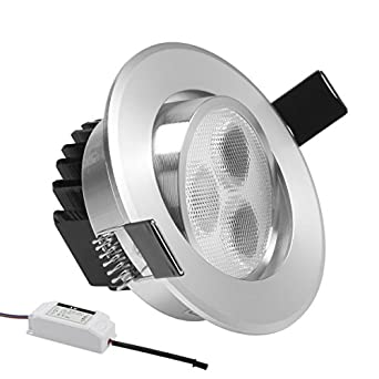 LE 3W 3 Inch LED Recessed Lighting 30W Halogen Bulbs Equivalent LED Driver