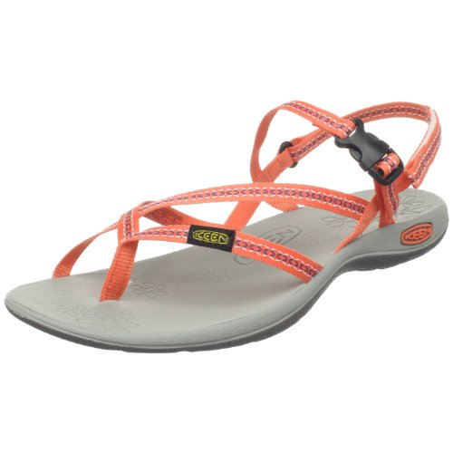 Keen Women's La Paz Thong,Living Coral,8 M US