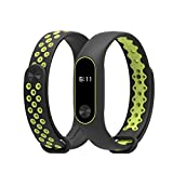 Xiaomi Mi Band 2 Strap, Unpara Durable Replacement TPU Anti-off Wristband Sports Bracelet for Xiaomi Mi Band 2, Aviation Aluminum Alloy (Green)