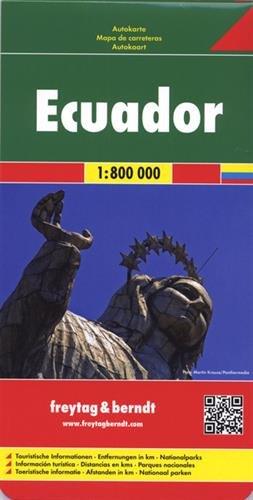 Ecuador y Galápagos, mapa de cerreteras. Escala 1:600.000 / 1:800.000. Freytag & Berndt. (Auto karte)