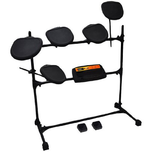 Pylepro Electronic Drum Set With Natural Response Drums - Includes 5 Drum Pads And Fully Adjustable Drum Rack