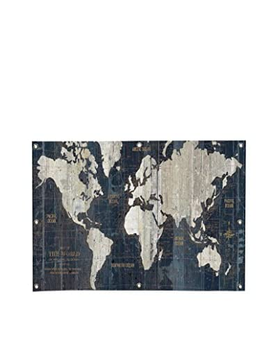 Wild Apple Old World Map Blue Portfolio Canvas Wall Mural