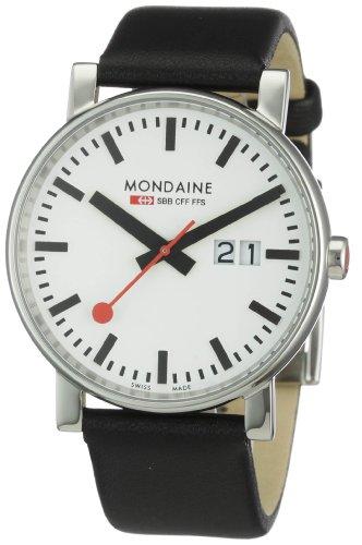 Mondaine - A627.30303.11SBB - Montre Homme - Quartz - Analogique - Bracelet Cuir Noir