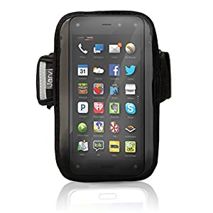 High Grade Water Resistant Exercise Sports Gym Armband for Motorola Droid Razr Maxx, Samsung S3, S4 Mini, S5 Mini Versions, Apple iphone 6, Amazon Fire Mobile Phones (use with or without phone protection)