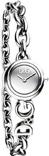 Stainless Steel Chain Link Quartz Silver Tone Dial