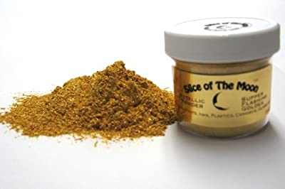 Super Flashing Golden Mica Powder 1oz, Gold Metallic Powder, Cosmetic Mica, Slice of the Moon