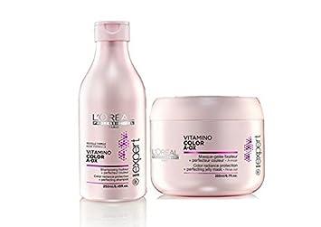 loreal professional vitamino color aox shampoo 250 ml mask 196 gm - Shampooing Vitamino Color