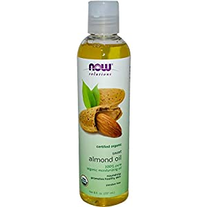 Now Foods, Solutions, Organic Sweet Almond Oil, 8 fl oz (237 ml) by Now Foods