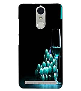 PrintDhaba Blue Berries D-3808 Back Case Cover for LENOVO K5 NOTE (Multi-Coloured)