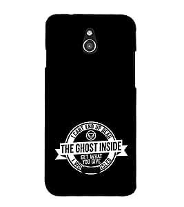 EPICCASE black ghost Mobile Back Case Cover For Infocus M2 (Designer Case)