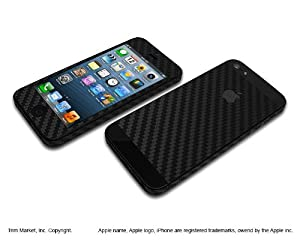 for apple iphone 5 model a1428 a1429 black carbon fiber protective skin body wrap. Black Bedroom Furniture Sets. Home Design Ideas