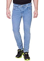 Aeroglide Sky Blue Washed Low rise Slim fit Jeans (30)