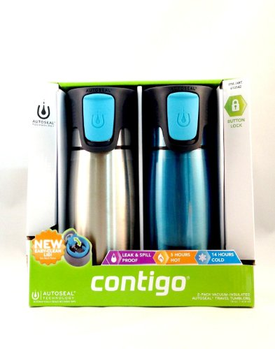 Contigo Astor 2-pack 14 oz Vacuum-Insulated Autoseal Travel Tumblers