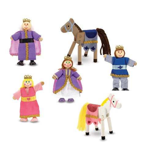 Melissa Doug Royal Family Wooden Doll Set Almasixczxfsdzfz