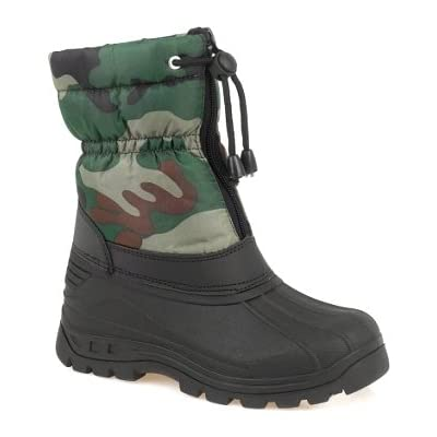 Camouflage Snow Boot with Toggle