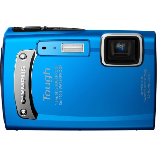 Olympus  TG-310  Tough 14.0 MP Digital Camera with 3.6x Wide Optical Zoom and 2.7-Inch LCD, (Blue)