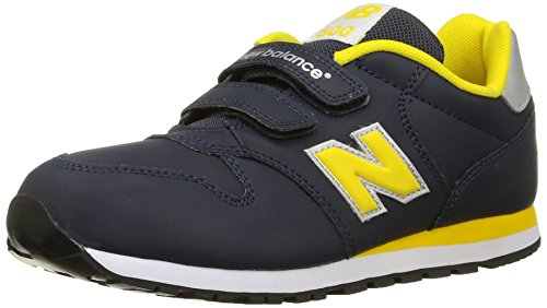 New Balance NBKV500YYI Sneaker, Bambino, Grigio (Grey/Yellow), 25