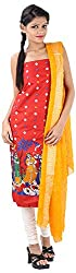 Hansika Women's Cotton Silk Unstitched Dress Material (HGW-52, Tomato Red)