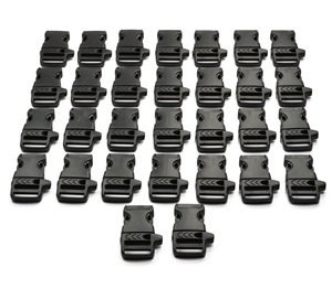 Best Prices! Cosmos ® 3/4(19mm) 30 PCS Black Side Release Whistle Buckles With Cosmos Fastening St...