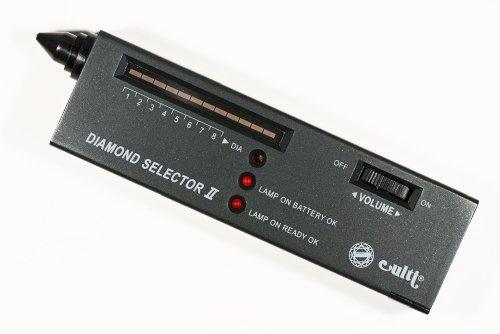New Digital Culti Fake Diamond/Gemstone Detector + 10X Magnifier Eye Loupe