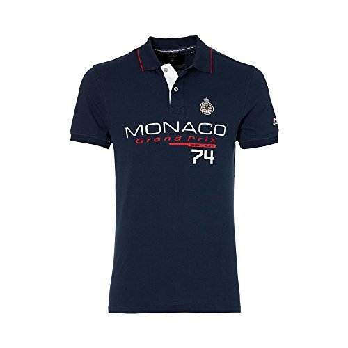 Grand Prix Monaco Racing by McGregor GP Monaco 2016 Mens Logo Polo blu Navy S