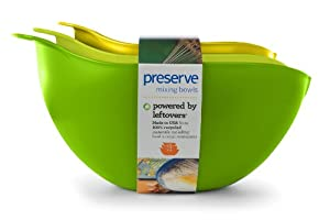 Preserve Nested Mixing Bowls, Green Green Yellow, Set of 3 by Preserve