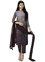 Multi Colour Diamond Work Chanderi Silk Straight Suit Dress Material Max-42