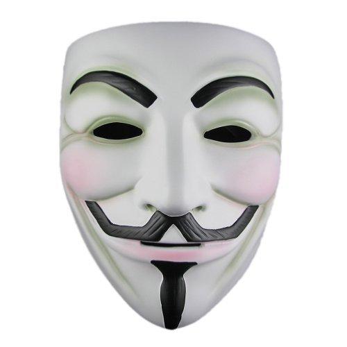 Ecosco Halloween Mask V For Vendetta Mask Resin White