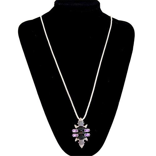 Nuovo stile moda semplice lega collana set collana di gemme
