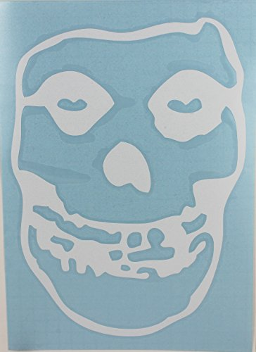 "CandD Visionary Misfits - Skull 10"" Rub-On Sticker White - 1"