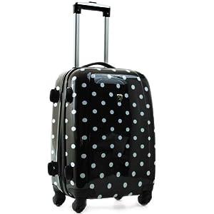 madisson valise cabine a pois 50cm noir bagages. Black Bedroom Furniture Sets. Home Design Ideas