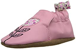 Robeez Tina Tulip Soft Sole Crib Shoe (Infant), Prism Pink, 0-6 Months M US