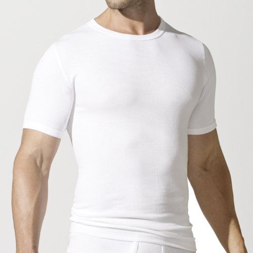 2 Götzburg Herren Unterhemden T-Shirts Doppelripp weiß Gr. M