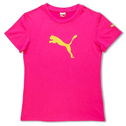 Puma Girls Athletic Sports Breathable Sweat Wicking T-Shirt Mesh Tee Pink Small