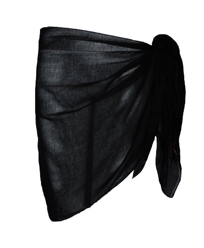 Plain Half Black Cotton Sarong