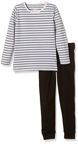 NAME IT Baby-Mädchen Zweiteiliger Schlafanzug NITNIGHTSET K G NOOS, Gestreift, Gr. 122, Mehrfarbig (Black)
