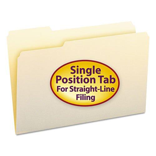 Smead - File Folders, 1/3 Cut First Position, One-Ply Top Tab, Legal, Manila, 100/Box 15331 (Dmi Bx