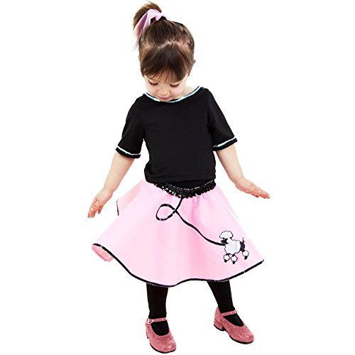50s Pink Poodle Skirt Toddler Costume