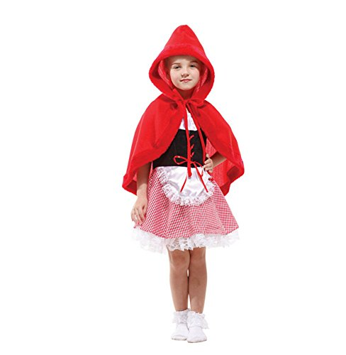 [Luk Oil Children's Halloween Little Red Riding Hood Costume Role-playing Clothes] (Images Of Little Red Riding Hood Costume)