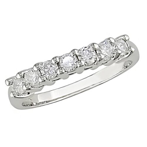 10k White Gold Diamond Eternity Ring (0.5 Cttw, G-H Color, I2-I3 Clarity)