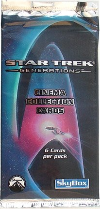 Star Trek: Generations Cinema Collection Cards Booster Pack (6 Cards) - 1