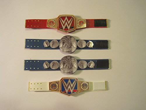 4 Custom Wrestling belts (for WWE action figures) (Belts For Figures compare prices)