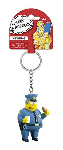 Fox The Simpsons Chief Wiggum 3D PVC Key Ring - 1