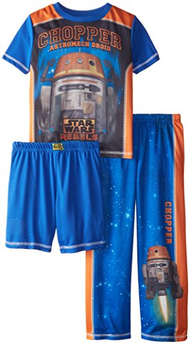 Star Wars Big Boys' Chopper 3 Piece Pant Set, Blue, X-Small (Chopper Pajamas compare prices)